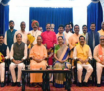 Swearing in ceremony of ministers at Raj Bhavan